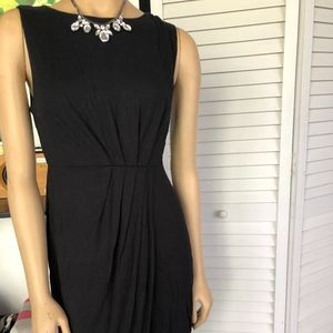 Dresses & Skirts - BLACK RUCHED ZIP BACK SHEATH DRESS